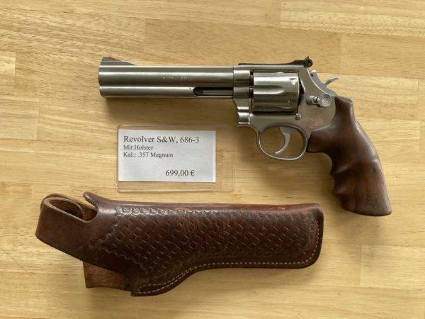 Revolver S&W Kal.: .357 Magnum, mit Holster