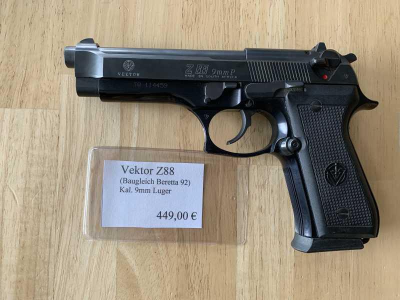 Pistole Vektor Z88 (Baugleich Beretta 92) Kal.: 9mm